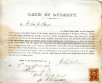 Loyalty oath of John Y. Page of...
