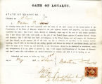 Loyalty oath of Martrom D. Lewis...