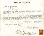 Loyalty oath of Jacob Levy of...
