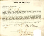 Loyalty oath of Edwin L. Bynner...