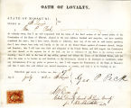 Loyalty oath of Geo. P. Peck of...