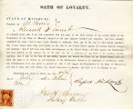 Loyalty oath of Russell F. Lamb...