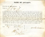 Loyalty oath of Charles D. Colman...