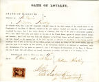 Loyalty oath of William Keating...