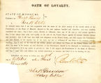 Loyalty oath of Ben White of...