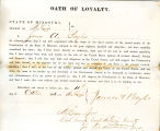 Loyalty oath of James A. Bayles...