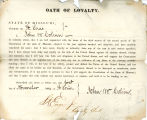 Loyalty oath of John W. Colvin of...