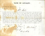 Loyalty oath of William Andre of...