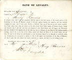 Loyalty oath of Henry Rammers of...