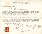 Loyalty oath of C. C. Hartman of...