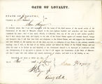 Loyalty oath of Sam Hager of...