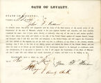 Loyalty oath of John F. Fassen of...