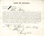 Loyalty oath of Michael Slattery...