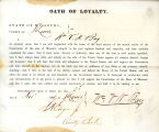 Loyalty oath of William V.N. Bay...