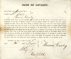 Loyalty oath of Thomas Curley of...