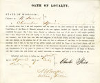 Loyalty oath of Charles Spies of...