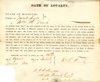 Loyalty oath of William H. Fisch...