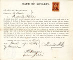 Loyalty oath of Frederick Hill of...