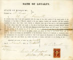 Loyalty oath of H. L. Carroll of...