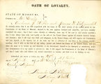 Loyalty oath of Andrew J. Hibler...
