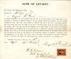 Loyalty oath of August F. Donk of...