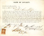 Loyalty oath of Robert...