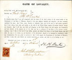 Loyalty oath of H. H. Curtis of...