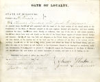 Loyalty oath of Charles Strecker...