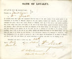 Loyalty oath of William Ziock of...