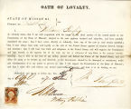 Loyalty oath of William Taussig...