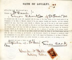 Loyalty oath of Enos Clark of...