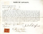 Loyalty oath of J. F. Schiefer of...