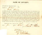 Loyalty oath of Martin Stemme of...