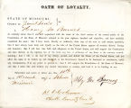 Loyalty oath of Henry M. Barnes...