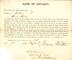 Loyalty oath of Horace Holton of...