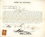 Loyalty oath of Isaac Hoffheimer...