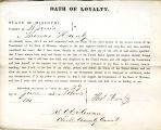 Loyalty oath of Thomas Hanby of...