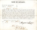 Loyalty oath of August Sendel of...