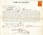 Loyalty oath of H. J. Hinsman of...