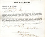 Loyalty oath of Caleb P. Price of...