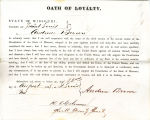 Loyalty oath of Andrew Brown of...