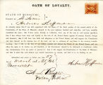 Loyalty oath of Andrew Hoffman of...