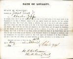 Loyalty oath of Charles Zipf of...