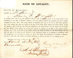Loyalty oath of Henry C. Wright...