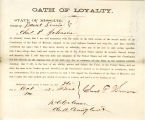 Loyalty oath of Charles P....