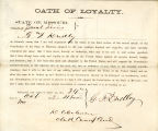 Loyalty oath of G. F. Dudley of...