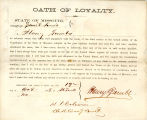 Loyalty oath of  Henry Gambs of...
