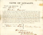 Loyalty oath of Valentine Crancer...