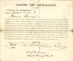 Loyalty oath of Francis Romer of...