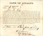 Loyalty oath of John H. Terry of...